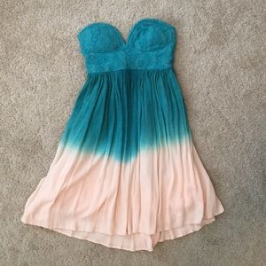 👗 🌟Honey Punch Strapless Ombré Dress-Size Small